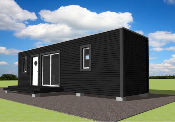 pequea y comoda casa hecha con un container