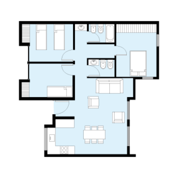 Casa procrear maderera 3 dormitorios