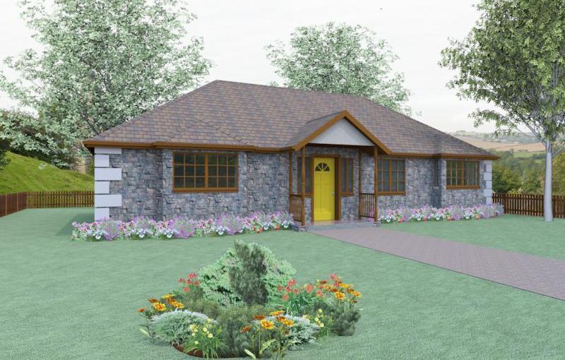 Plano de casa formal de 3 dormitorios y 96 metros cuadrados