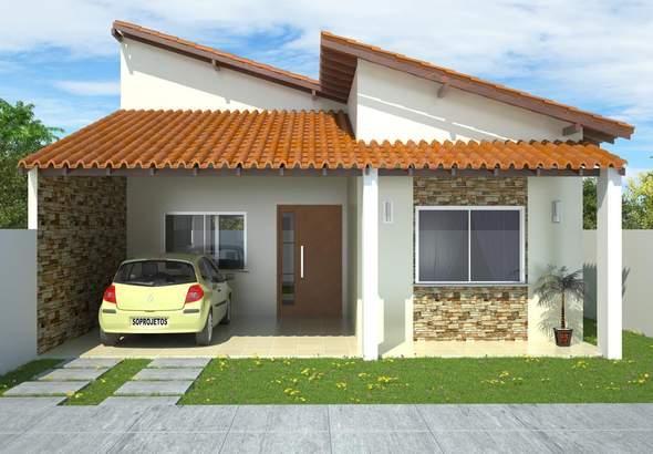 Plano de planta de casa de 3 dormitorios en 127 metros cuadrados