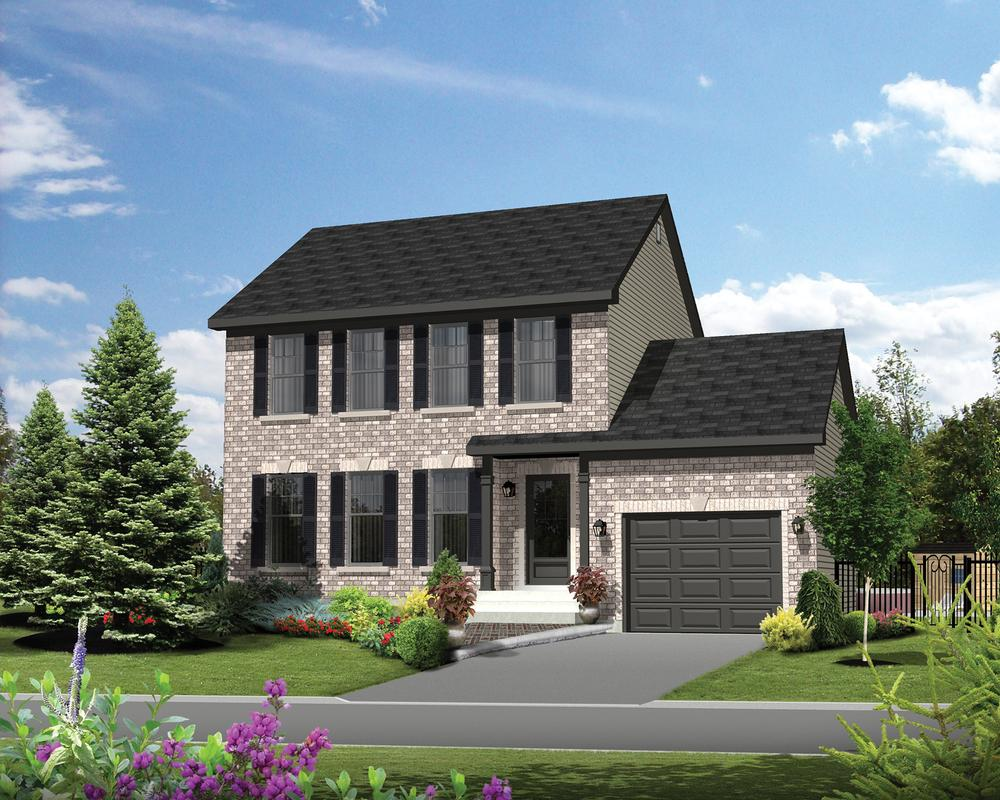 Plano de casa clasica de dos plantas 3 dormitorios y 127 for Planos de casas lindas