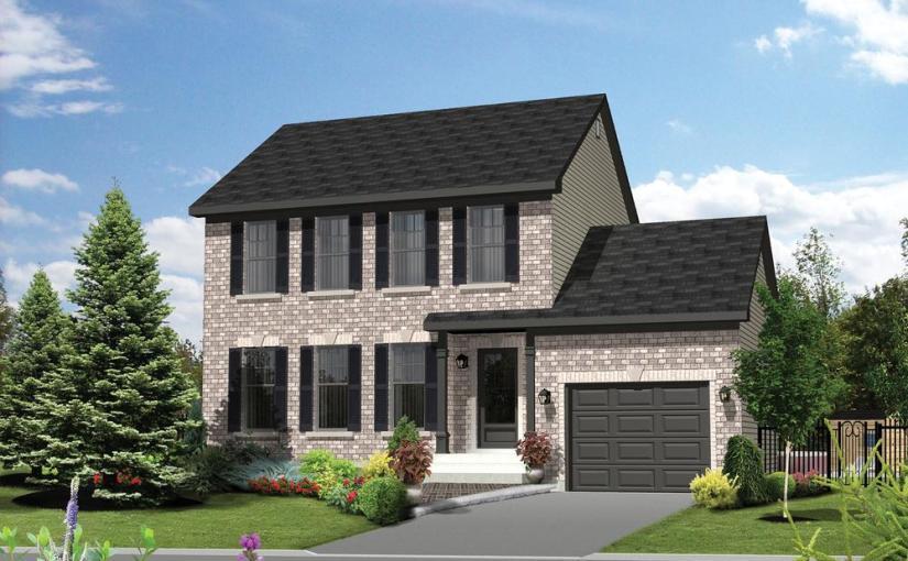 Plano de casa clasica de dos plantas 3 dormitorios y 127 for Planos casas pequenas modernas
