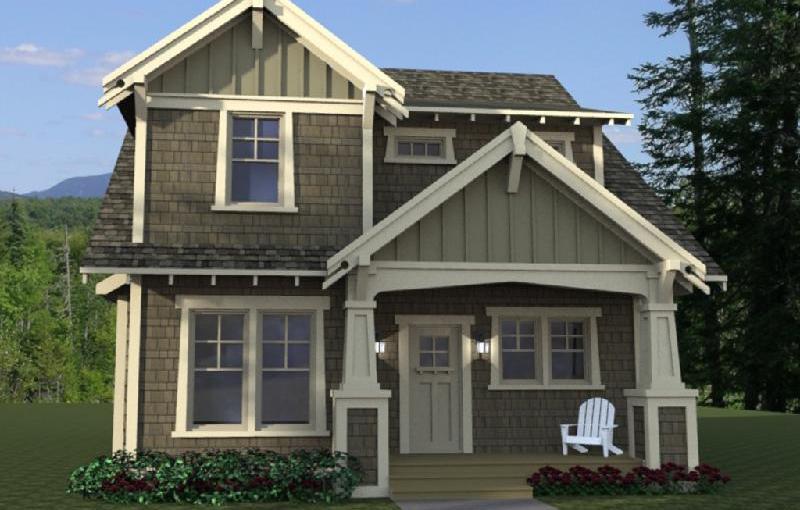 Plano de casa americana, de dos plantas, tres dormitorios y 219 metros cuadrados