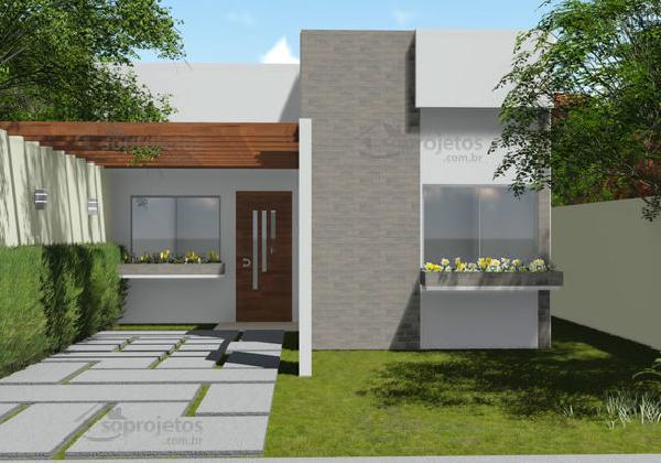 Casa moderna de dos dormitorios y 72 metros cuadrados for Planos casas modernas 1 planta