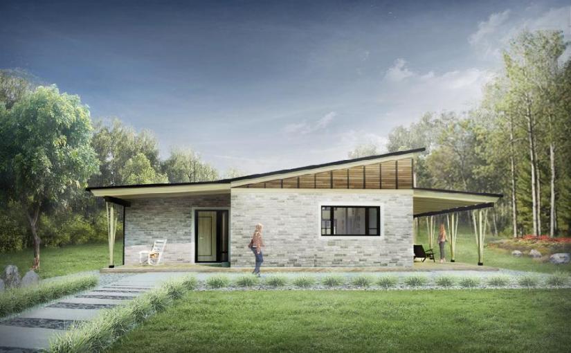 Cabaña moderna de dos dormitorios y 78 metros cuadrados