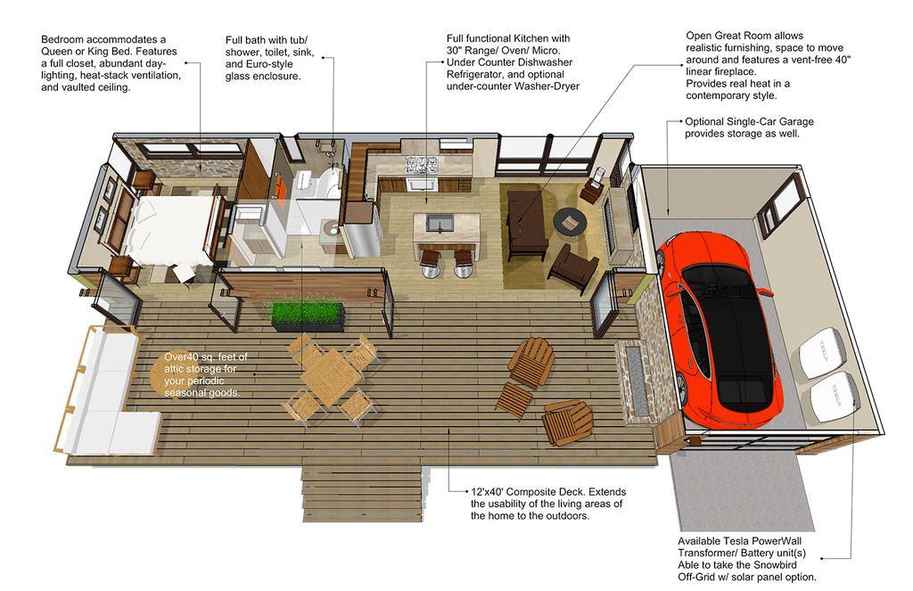 planos de casas con panel w