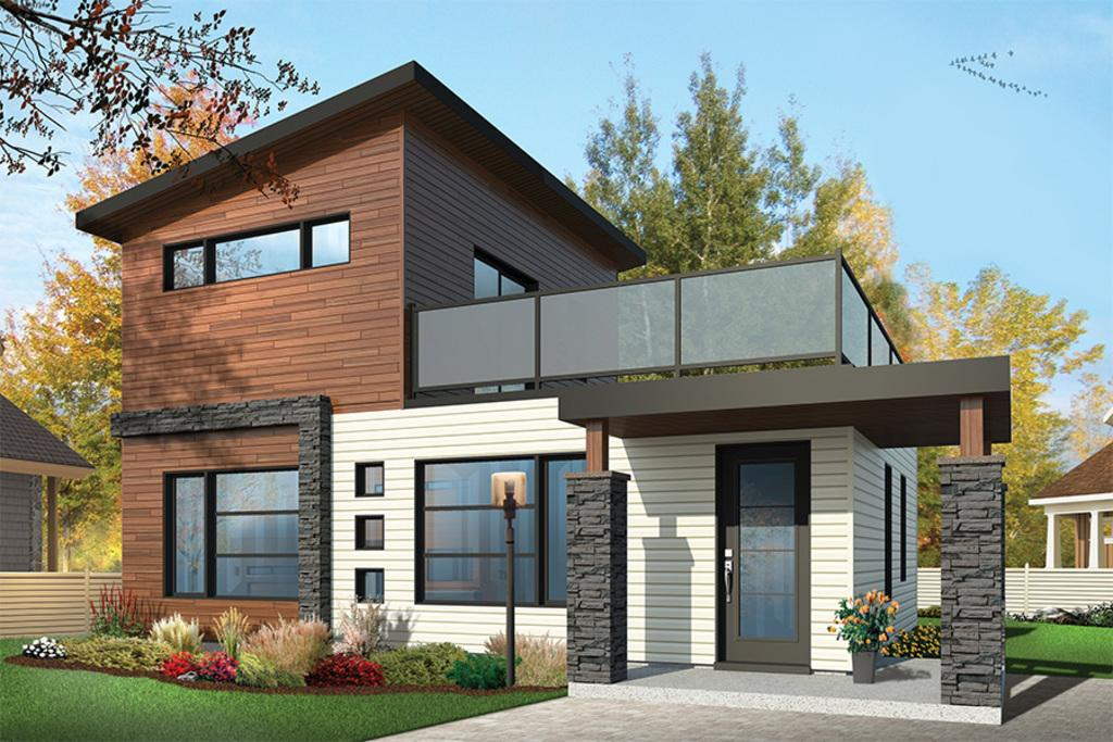 Moderna casa de dos plantas dos dormitorios y 86 metros for Casa de dos plantas de 70 metros cuadrados
