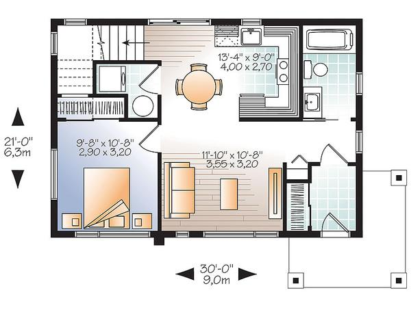 Moderna casa de dos plantas dos dormitorios y 86 metros for Planos de casas campestres de dos plantas