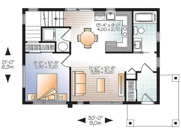 plano planta baja casa de dos písos y 86 metros cuadrados