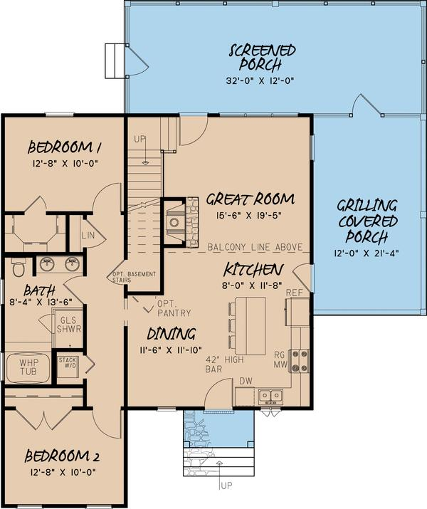 plano de casa de dos plantas tres dormitorios y 145