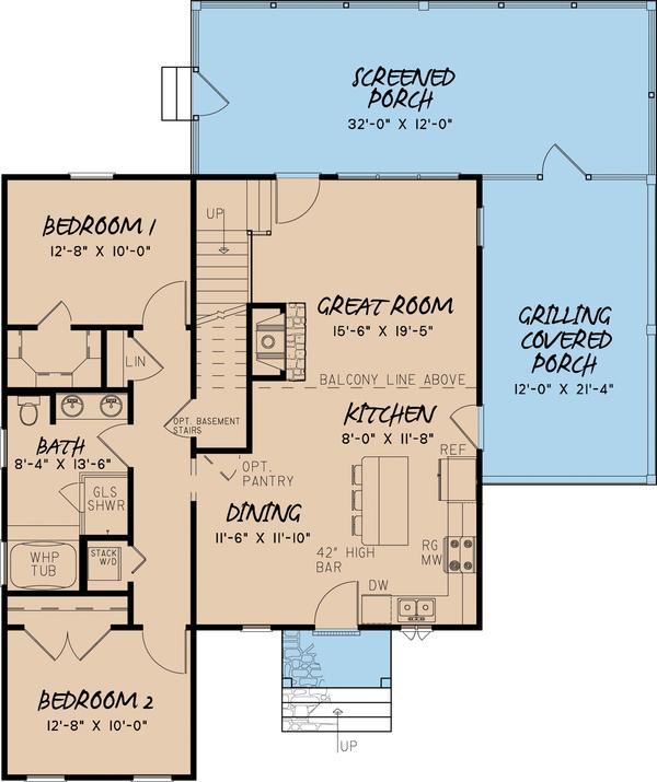 Plano planta baja casa de pisos y tres dormitorios