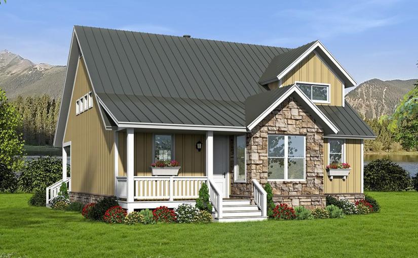 Plano de cómoda casa de dos pisos, 3 dormitorios y 172 metros cuadrados