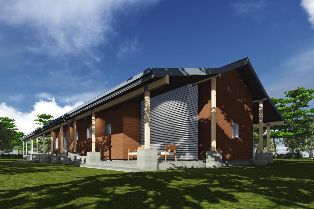 Planos de casa de una planta y tres dormitorios en 177 for Planos de casas de campo gratis