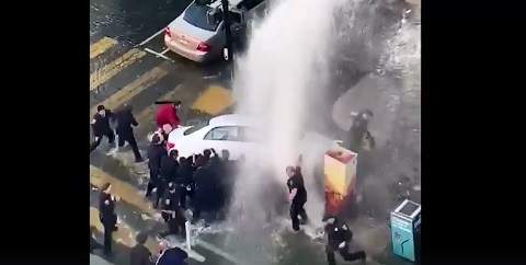 Criminal wrecks into fire hydrant after stealing car