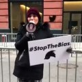 Laura Loomer holds protest at Twitter headquarters in New York City