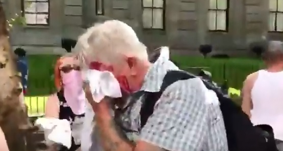 Antifa attacks elderly man