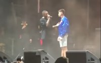 "Video: Rapper boots fan from concert for refusing to say ""f*ck Donald Trump"""