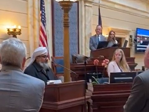 imam delivers prayer senate session georgia