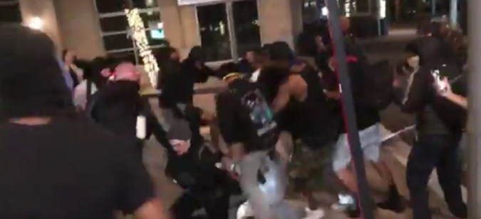 Dallas Rioters Beat Man To Near-Death
