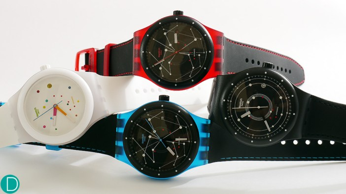 The Swatch Sistem 51: a new, fun Swatch watch. Available in 4 colours.