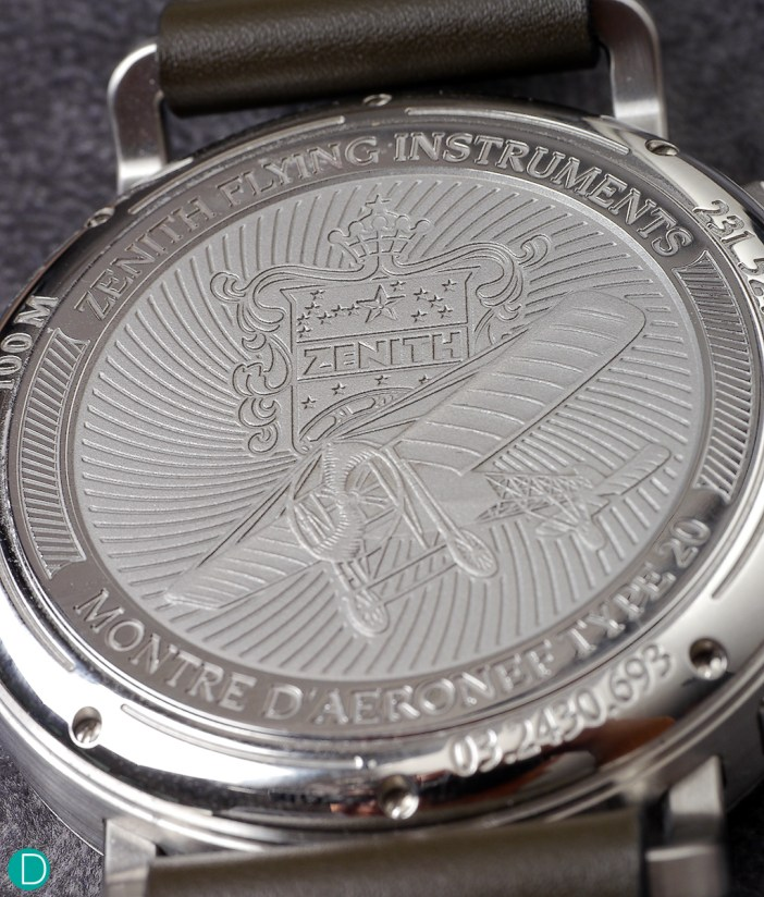 The caseback, with engraving.