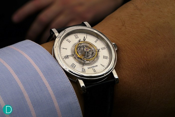 Haldimann H1 wrist shot. The classic proportions of the watch makes a very elegant watch. Very comfortable.