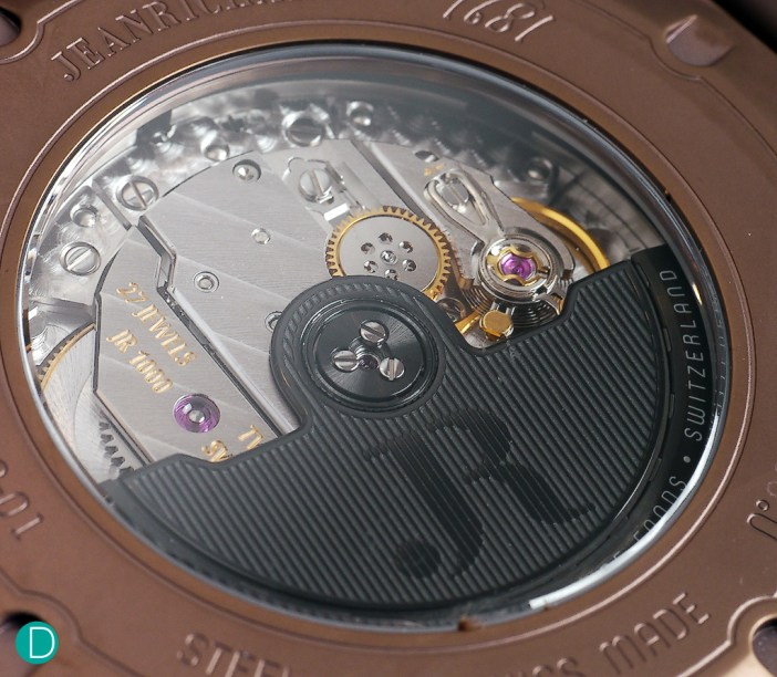 The JR1000 in-house movement.