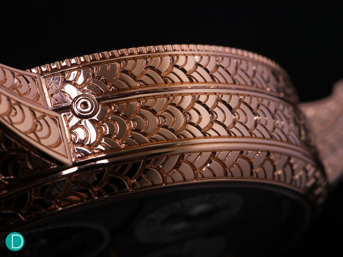 Intricately hand engraved Dragon scales.