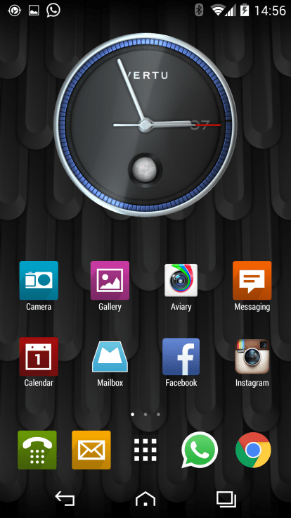 3D moon phase clock widget and wallpaper that move to where you move the phone