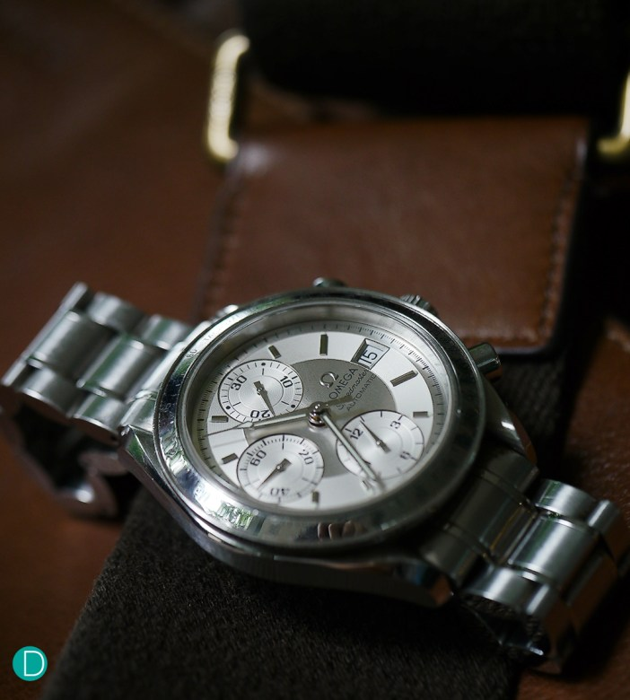A Speedmaster Chronograph, Wesley's first ever mechanical timepiece.