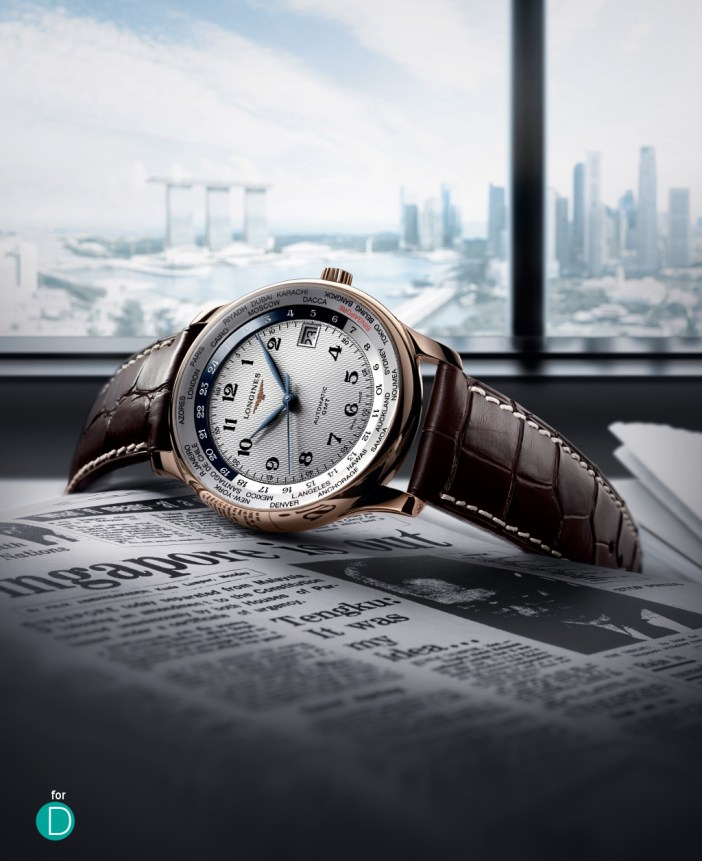 The Longines Master Collection GMT World Time, featuring some interesting touches for SG50.