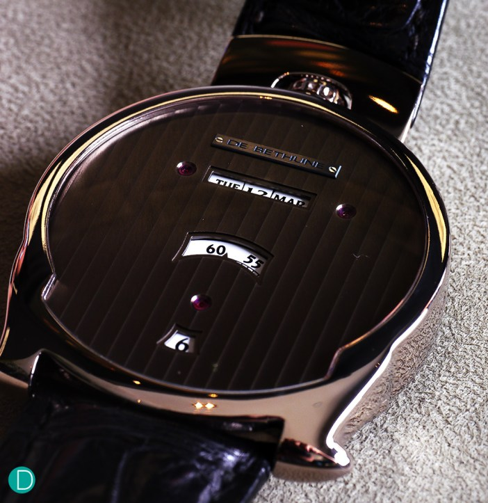 The De Bethune DBS Digital. It looks rather unusual, which sets it really apart from its competitors (if any).