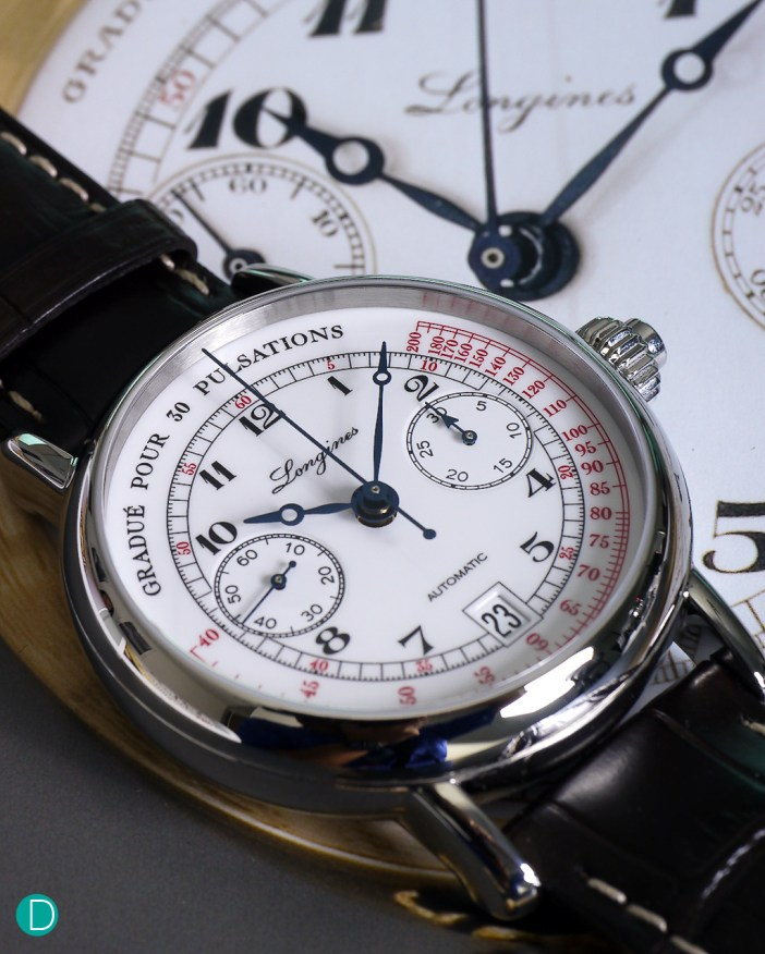 The Longines Pulsometer Chronograph. A monopusher chronograph, with a vintage design? Hell yeah!