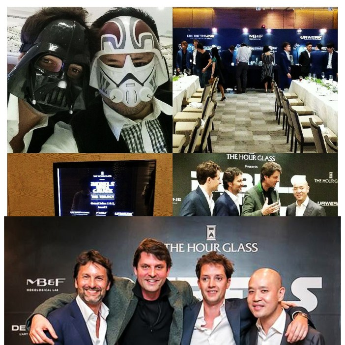 Rebels dinner. With the rebels from the Empire attending, and the plenary session. Bottom picture shows from L-R Max Bussier, Alessandro Zaneta, Felix Baumgartner and Michael Tay.