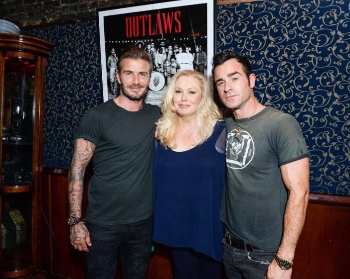David Beckham, Cathy Moriarty, Justin Theroux