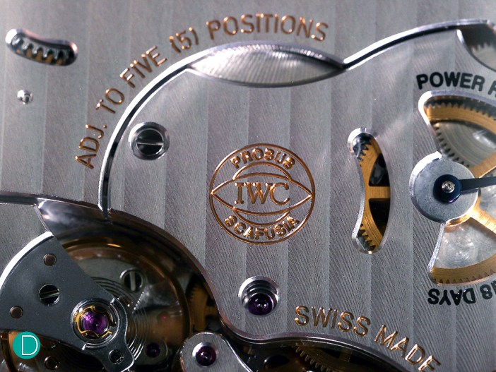 IWC Probus Scafusia logo prominently engraved on the plate.