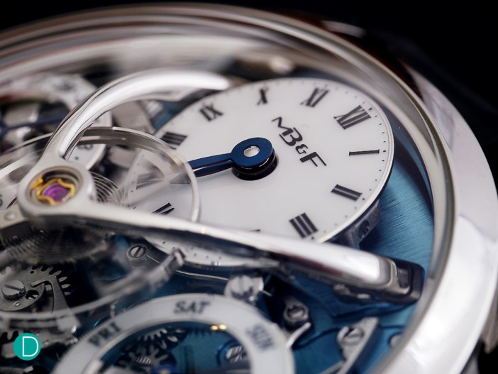 The MB&F LM Perpetual: dial detail. Shown as in MB&F's teaser released over the weekend, but zoomed out just a little bit.