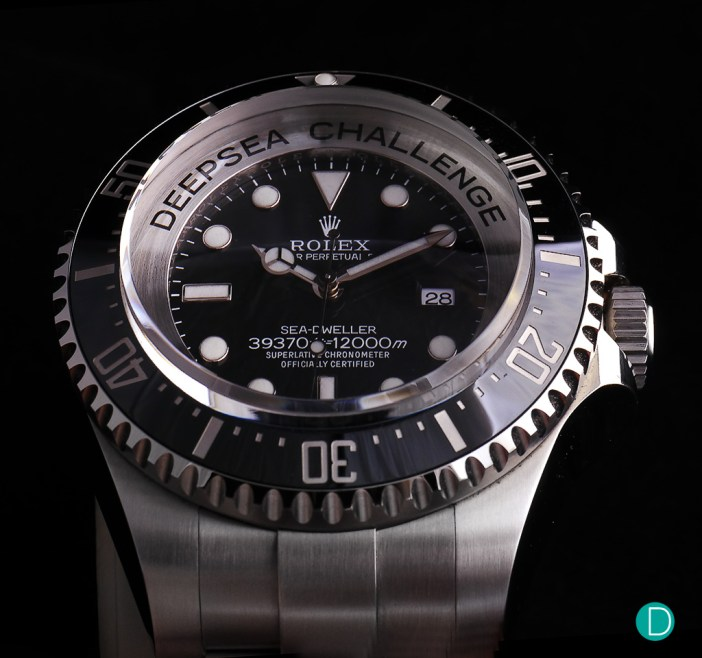 The Rolex Deepsea Challenge. This is a Rolex made Display Model of the watch which was strapped to the outside of the DSV Deep Sea Challenger submarine with James Cameron as the solo pilot.
