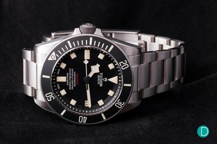 Tudor Pelagos LHD. Titatium case and bracelet.