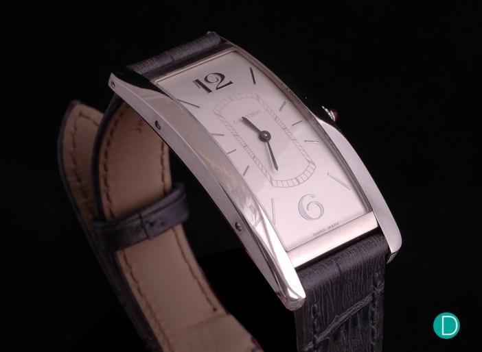 Cartier Tank Cintrée platinum case side