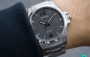 Longines Conquest V.H.P. wrist shot carbon dial