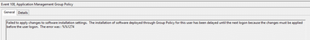 group policy software installation not working