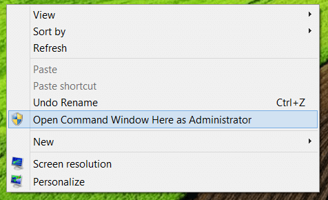 Administrative Command Prompt
