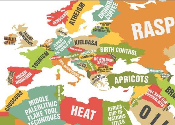 zanimljiva karta svijeta