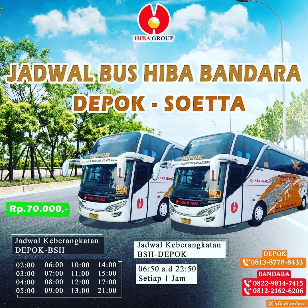 Jadwal Bus Depok Bandara Soekarno Hatta Update September 2021