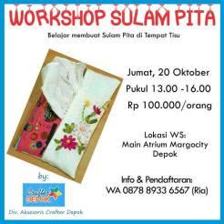 5th Margo City Arts and Crafts Workshop Sulam Pita