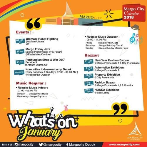 Event Margo City Depok Januari 2018