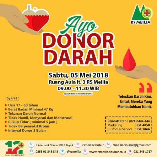 Donor Darah di RS Meilia Cibubur Depok