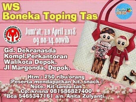 Workshop Crafter Depok Boneka Toping Tas di Gedung Dekranasda Depok