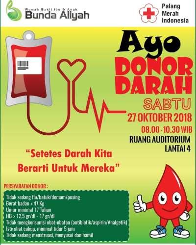 Ayo Donor Darah di RSIA Bunda Aliyah Depok